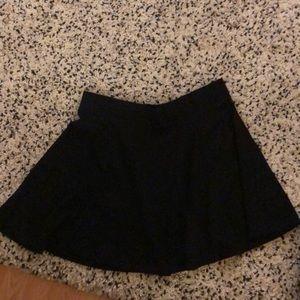 Black flowing skirt